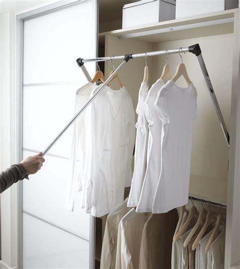 wardrobe rail pull down hanging hanger robe clothes rack fittings storage closet sliding hangers 830mm rod wardrobes designs internal systems
