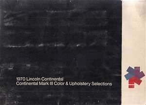 1970 Lincoln Continental And Town Car Factory Wiring Diagram Original