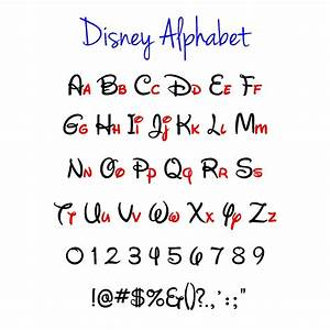 Disney Alphabet Disney Svg Disney Svg Alphabet Vector