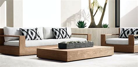 rh moderns marbella teak collection natural teak