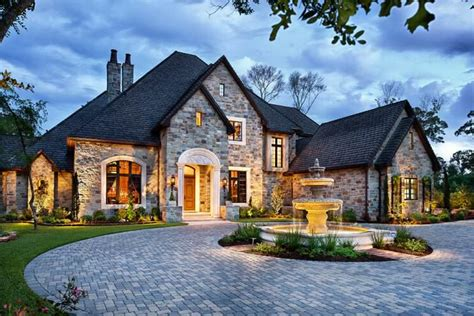 This English Manor Style Home Plans, Architecture And
