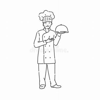 Cook Cuoco Disposizione Piatto Professionale Uniforme Unico