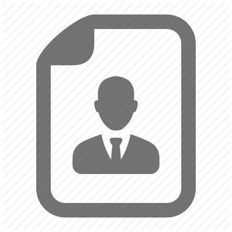 resume icon png avatar businessman cv file profile resume icon