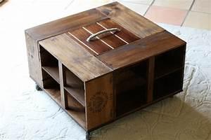 Table Basse Caisse Bois : table basse bar ~ Nature-et-papiers.com Idées de Décoration
