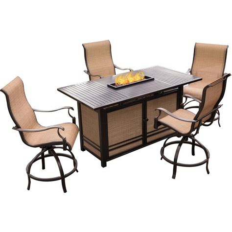 outdoor rectangular table and chairs hanover 5 piece outdoor bar h8 dining set with rectangular
