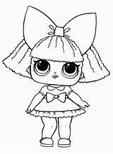Lol Dolls Coloring Surprise Pieces Bow sketch template