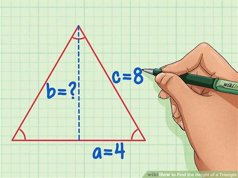 ways  find  height   triangle wikihow
