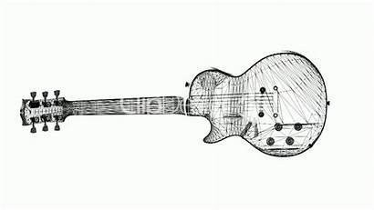 Guitar Electric 3d Rotation Musical Clip Instrument