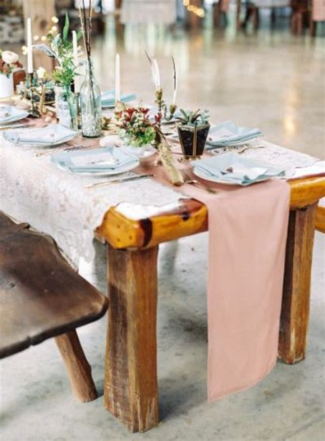 boho chic wedding table settings   inspired