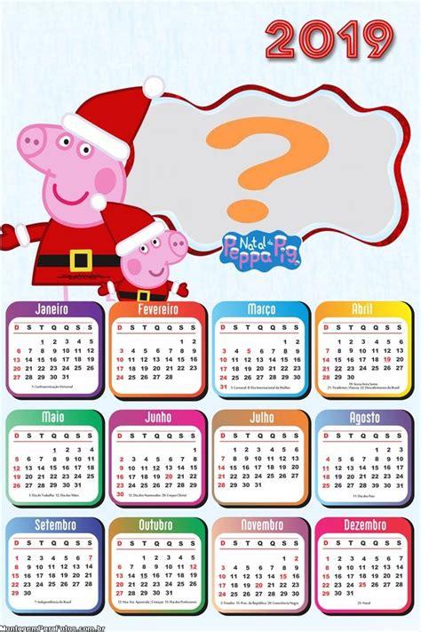 calendario peppa pig feliz natal montagem fotos