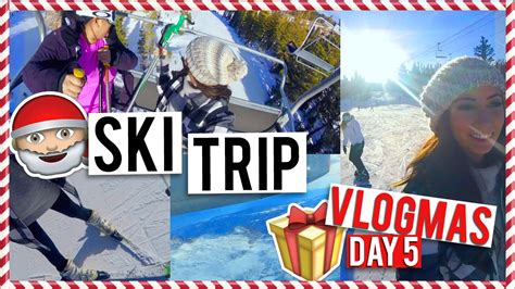 My First Time Skiing  Vlogmas Day #5  Youtube