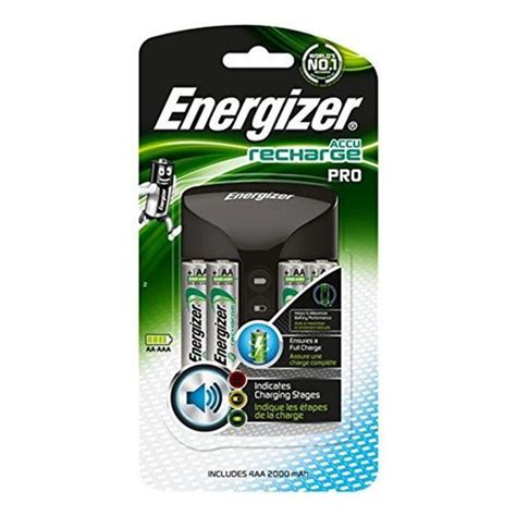 energizer accu recharge pro battery charger    aa