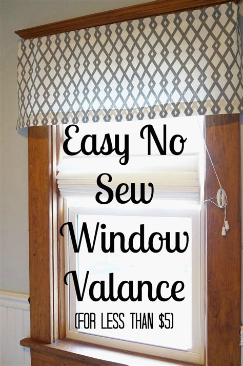 window curtain rods easy diy no sew window valance