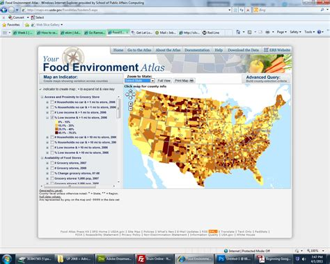 cuisines atlas week1 usda website review advanced gis web gis