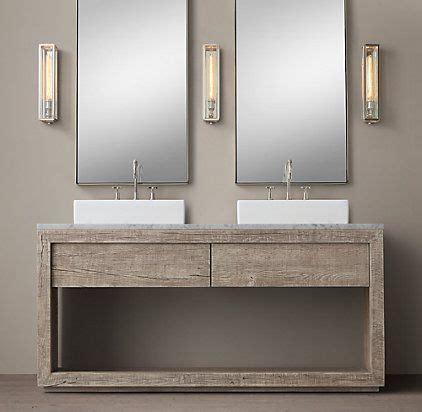vanities sinks restoration hardware bathrooms