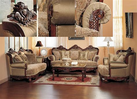 traditional settee formal traditional cherry fabric sofa set chair