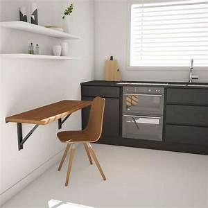 Table D Appoint Cuisine : table murale rabattable d 39 appoint en stratifi vulcano ~ Melissatoandfro.com Idées de Décoration
