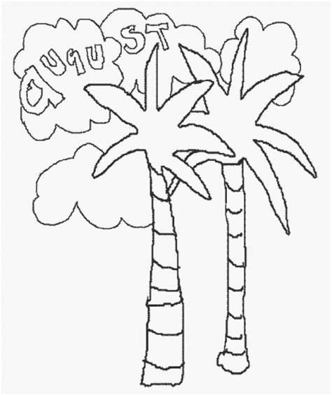 calendar august coloring pages
