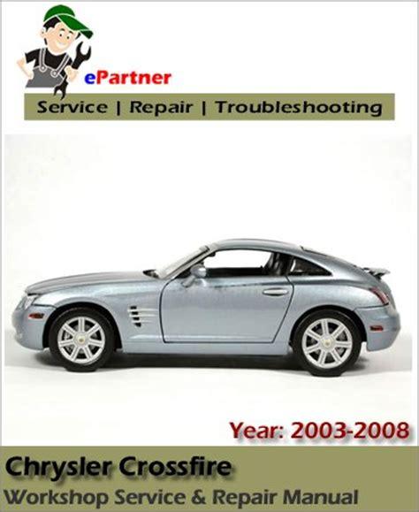 chrysler crossfire service repair manual