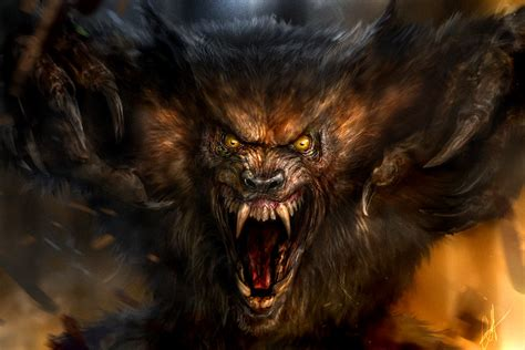 Beast Scary Wolf Wallpaper by Artstation Wolf Beast Chris Scalf