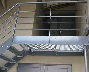 Terrasse Metallique Suspendue : terrasse m tallique et passerelle verre passerelle caillebotis vdv ferronnerie ~ Dallasstarsshop.com Idées de Décoration