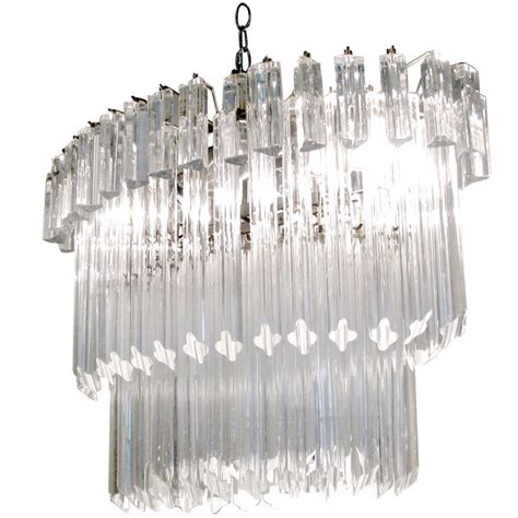 vintage italian murano glass chandelier by camer at 1stdibs