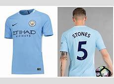 Manchester City FC 201718 Nike Home Kit – FOOTBALL