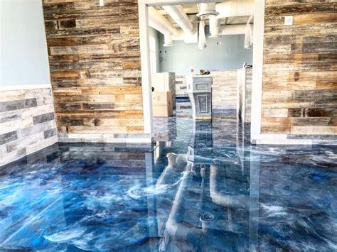 Epoxy garage floor coating kits for garage and workshops. Metallic Epoxy Houston - Refine Concrete Services