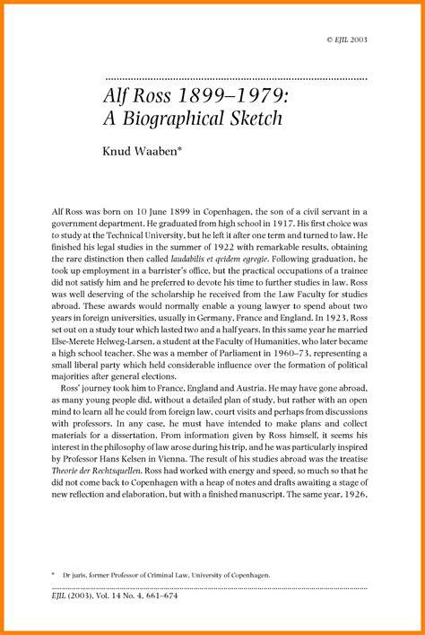 5 biographical sketch sle bid template