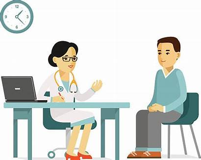 Patient Doctor Medicine Vector Illustration Young Concept
