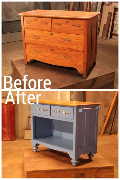 diy dresser into kitchen island don t throw away your furniture 29 upcycled 8748