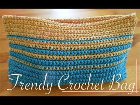 small trendy simple crochet bag video tutorial left handed youtube