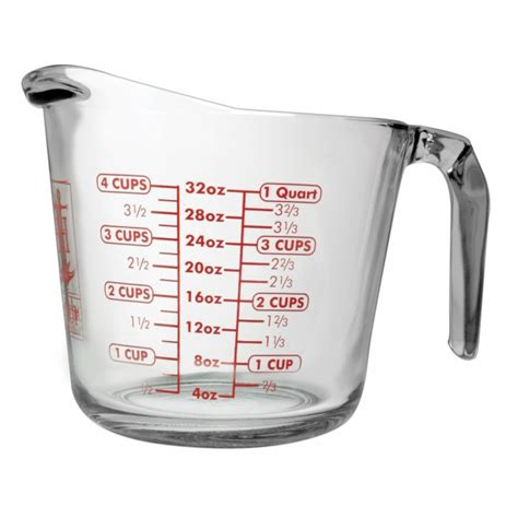 kitchen canister sets stainless steel anchor hocking 32 oz open handled measuring cup