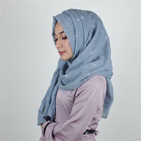 jual hijab jilbab kerudung pashmina flower lux kode