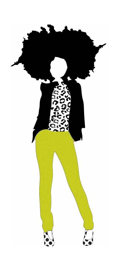 Afro Hair Natural African American Silhouette Illustrations