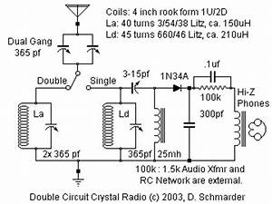 Dave U0026 39 S Crystal Radio Set  24  With Large Litz Coils And Selectivity Enhancement Circuit
