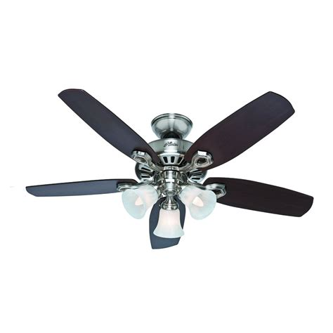 small flush mount ceiling fan with light shop hunter builder small room 42 in brushed nickel