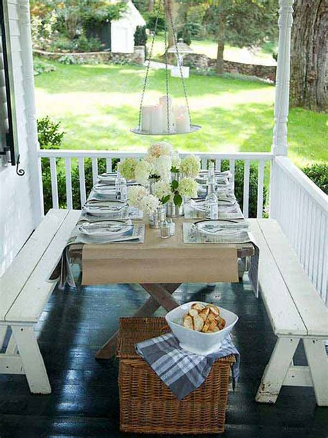 Front Porch Table by 31 Brilliant Porch Decorating Ideas That Are Worth