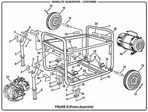 Homelite Ut9c5000d 5000 Watt Generator Parts Diagram For