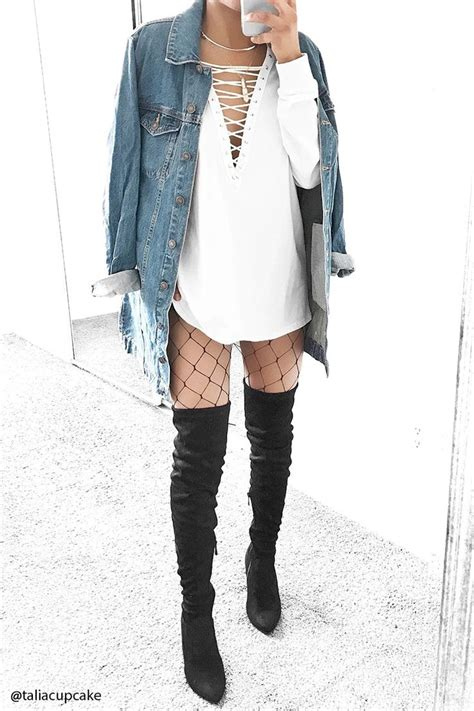 The 25 Best Fishnet Outfit Ideas On Pinterest Grunge