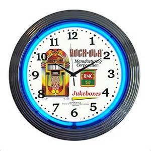 15 Inch Rock Ola Jukebox Neon Clock