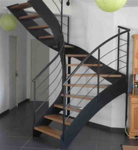Escalier Fer Et Bois : escalier bois et fer cgmrotterdam ~ Dailycaller-alerts.com Idées de Décoration