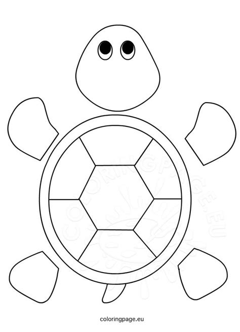 Tmnt Body Template by Turtle Template For Preschool Coloring Page