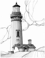 Lighthouse Pencil Sketch Drawing Coloring Oregon Pages Drawings Lighthouses Bay Yaquina Line Patterns Sketches Painting Durante Al Beach Scene Flickr sketch template