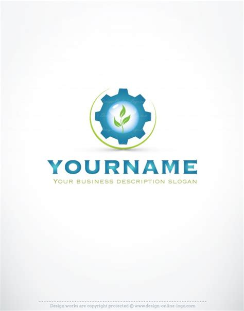 premium exclusive design industrial eco water logo