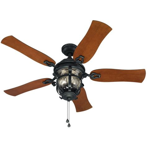 flush mount outdoor fan shop harbor breeze lake placido 52 in aged iron outdoor