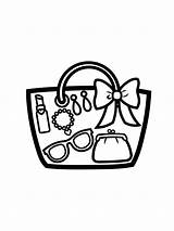 Handbag Coloring Printable Bright Choose Colors Favorite sketch template