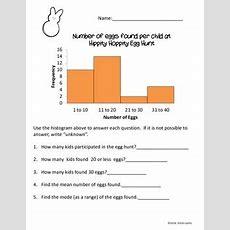 Easter Themed Histogram Worksheet By Alicia Lykins Tpt