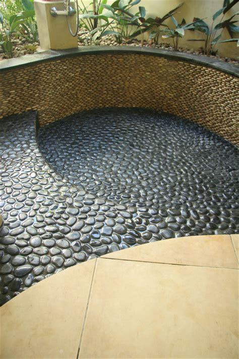 river rock bathroom ideas island king pebble pool medan charcoal modern