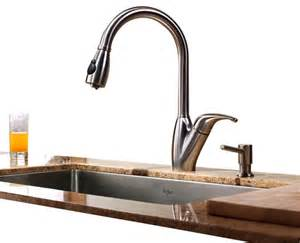 houzz kitchen faucets kraus single lever stainless steel pull out kitchen faucet modern kitchen faucets by